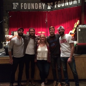 Babs, Caleb, Robin, Jacob and Teddy at the Foundry