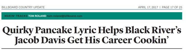 Billboard Country Update Headline